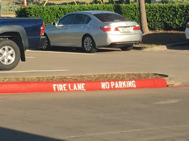 Fire Lane Curb Painting and Stenciling Louisiana