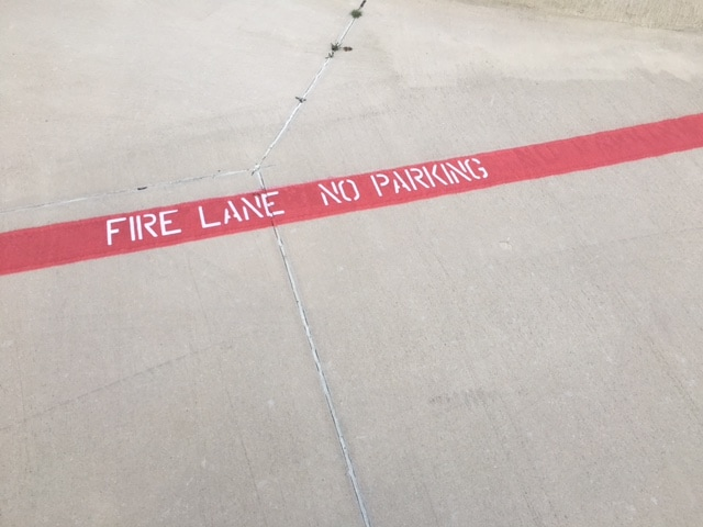 Fire Lane Compliance and Safety Striping