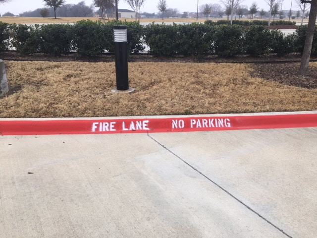 Fire Lane Striping and Stenciling